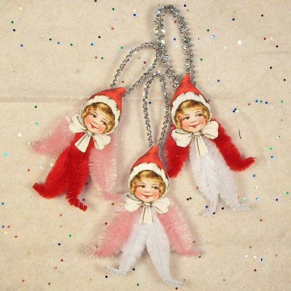 vintage tree angels