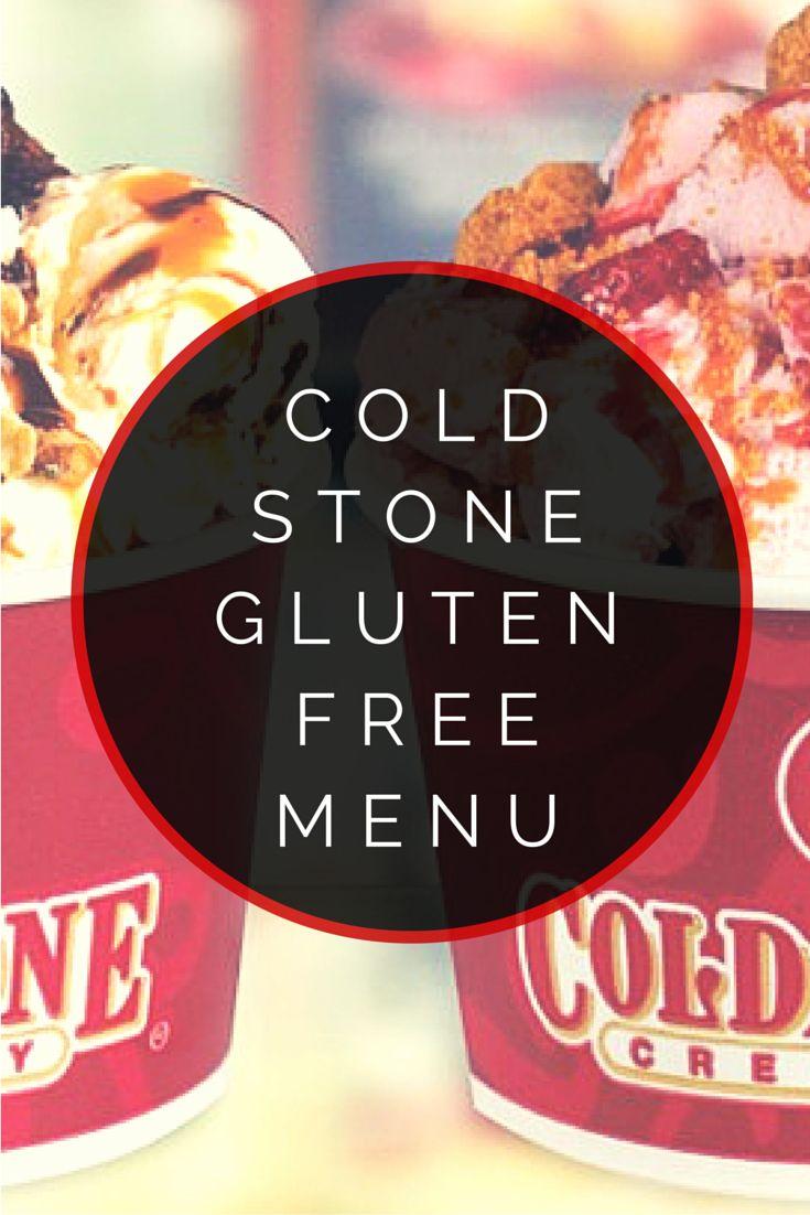 Cold Stone Creamery Gluten Free Menu #glutenfree