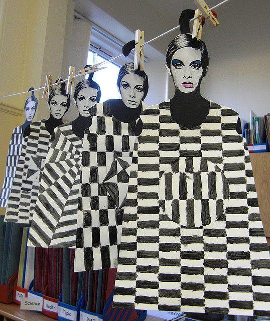 Twiggys op art dress by maureencrosbie, via Flickr