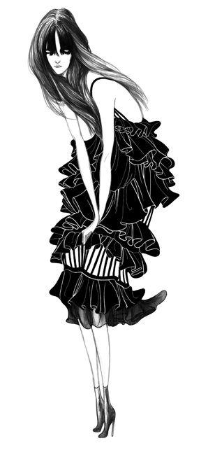 drawings- Laura Laine – fashion illustrator
