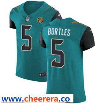 Men s Nike Jacksonville Jaguars  5 Blake Bortles Teal Green Team Color  Stitched NFL Vapor Untouchable 25d0fa7db
