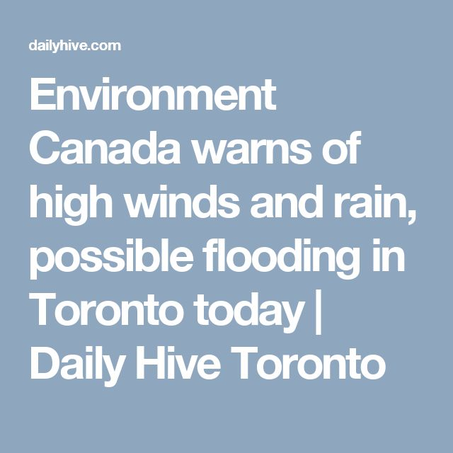 Environment Canada warns of high winds and rain, possible flooding in Toronto today | Daily Hive Toronto