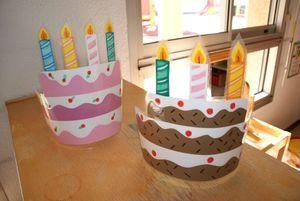 couronnes des anniversaires: couronnes à porter par les élèves le jour de leur aniiversaire