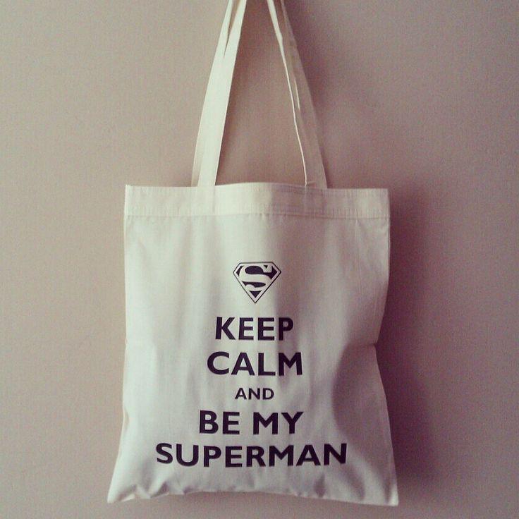 Keep calm and be my superman! Torba ekologiczna świetnej jakości. Littlethings.pl