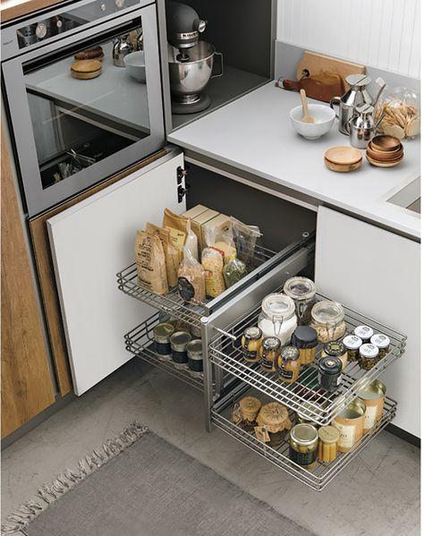 Spazio in cucina: 6 soluzioni per avere cucine super organizzate ...