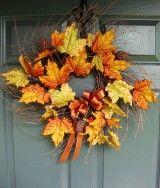 Fall Leaves Wreath