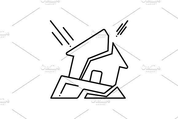 Earthquake Icon Sketch Book Earthquake Icon
