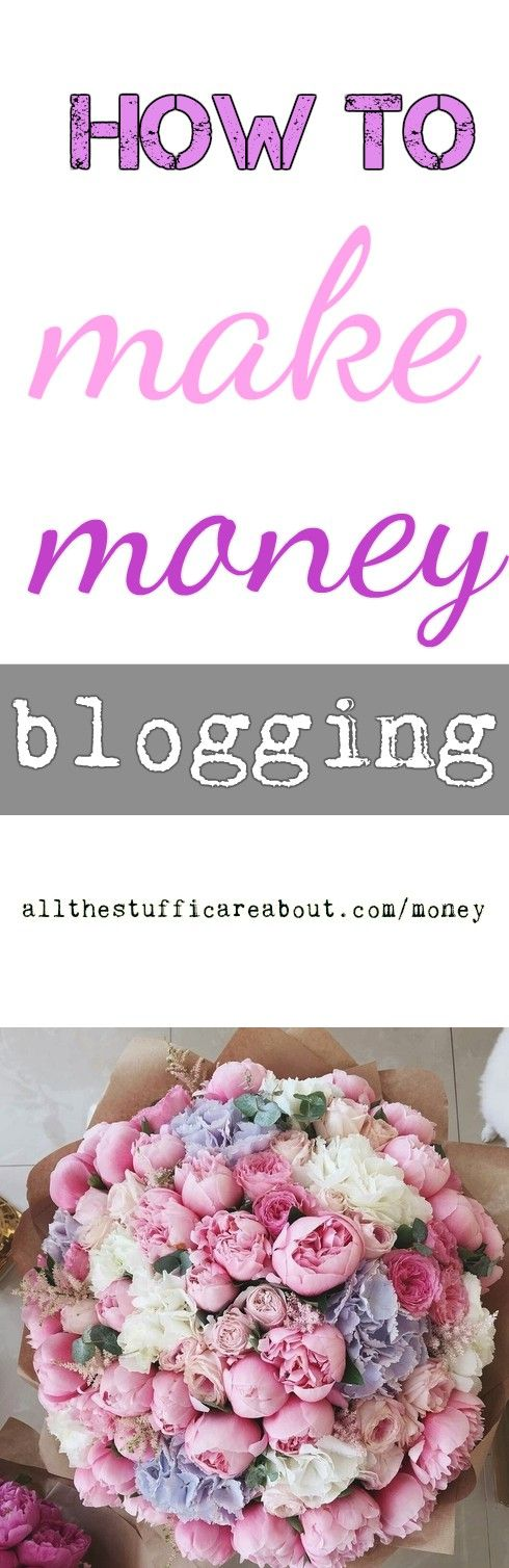 How to make money blogging. Affiliate marketing, sponsored posts, ads, products. How to promote your blog with Pinterest, Instagram, Facebook.