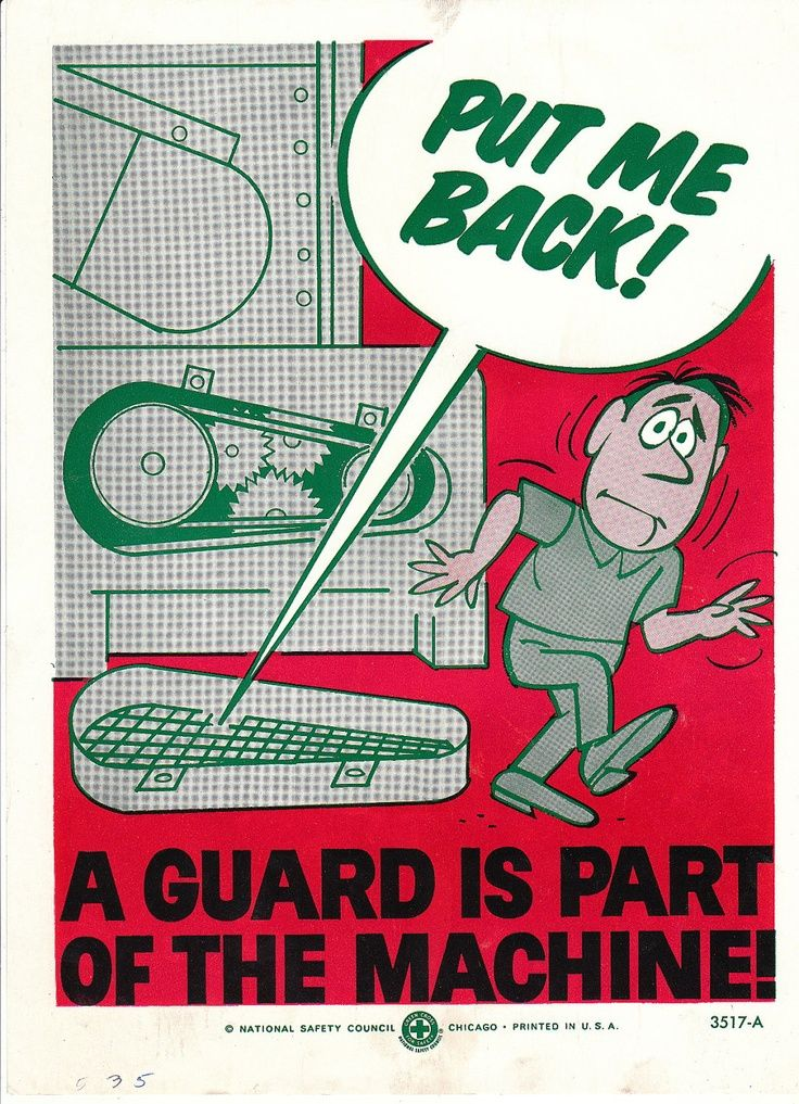 Collectable Vintage National Safety Poster Put me back