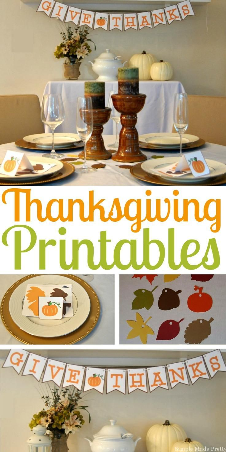 This Thanksgiving party and home decor printable package is perfect for all of your Thanksgiving celebrations! Add some flare to your office parties and Thanksgiving celebrations with these fun Thanksgiving printables!