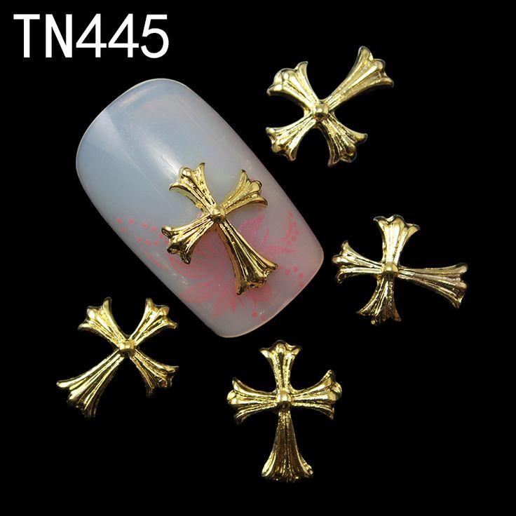 10 шт. золотой блеск 3d ногтей украшения со стразами, Сплав ногтей прелести ювелирные для ногтей инструментов поставщики TN445