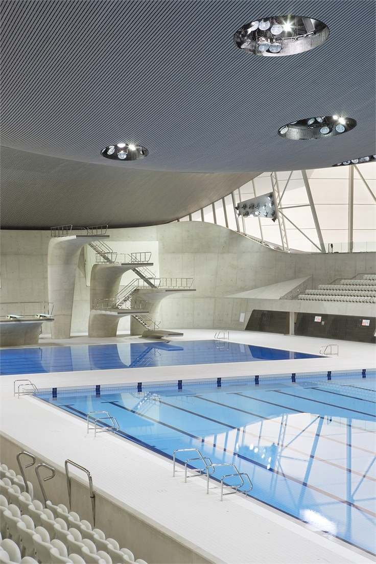 London 2012 Aquatics Center, Londra, 2011 by Zaha Hadid #architecture #london2012 #olympics