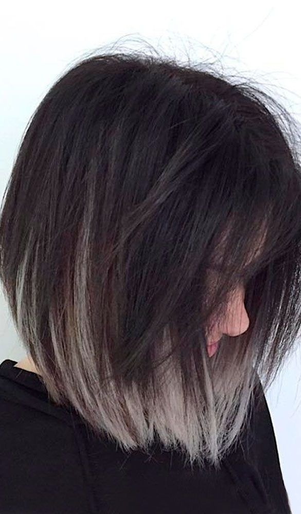 50 Best Gray Ombre Hair Color Ideas For Short Haircuts In Summer Grey Ombre Hair Short Ombre Hair Short Hair Color