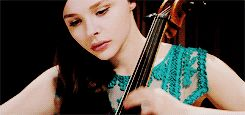 I love the dress. Mia playing the cello