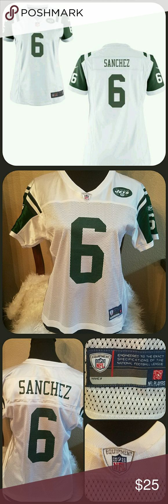 """🆕NFL Womens NY Jets Football Top NWOT NWOT NFL top. #6 Sanchez. Size Medium. From the official NFL store. Measures approximately 24"""" long, armpit to armpit 19"""" across lying flat. Never worn. NFL Equipment  Tops"""