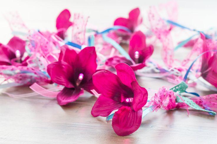 Flower Fairy Lights, String Lights, LED Lights, Pink Orchid, Nursery Decoration, Bedroom Decor, Boho Decor, Gypsy Theme, Pink Decor by Florabundins on Etsy https://www.etsy.com/uk/listing/500445232/flower-fairy-lights-string-lights-led