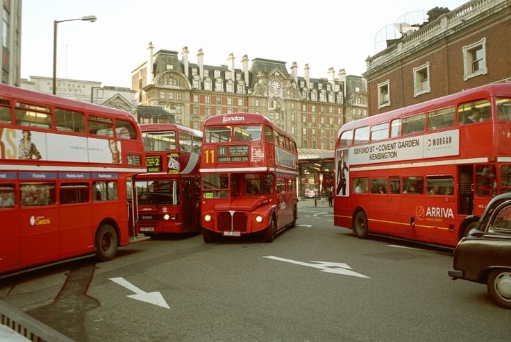 Autobuses antiguos.