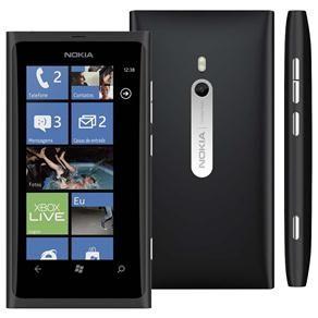 Celular Desbloqueado Nokia Lumia 800 Preto com Windows Phone, Câmera 8MP, Touch Screen, 3G, Wi-Fi, Bluetooth, GPS, Rádio FM, MP3 e Fone de Ouvido
