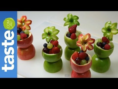 How to make apple fruit cups - YouTube
