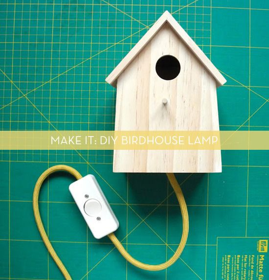 DIY Birdhouse Lamp