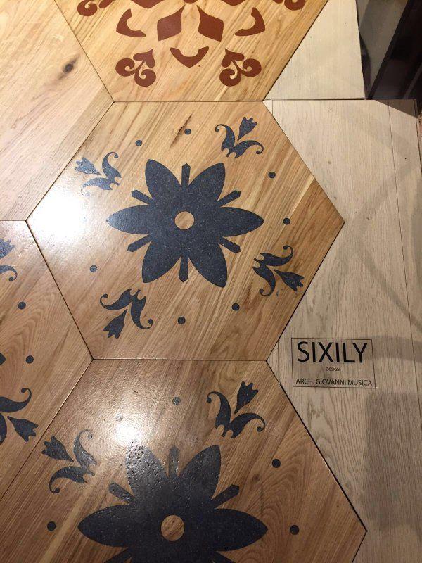 New #product #sixily by @MGAlab_GMusica See it at @Suite07_ Via Fuori Oscuri 9, @Brera_District @BioesseriBrera #mdv16 #MGAlab #milano #brera #luxury #esagono #flooding #wood #maiolica #majolica #parquet