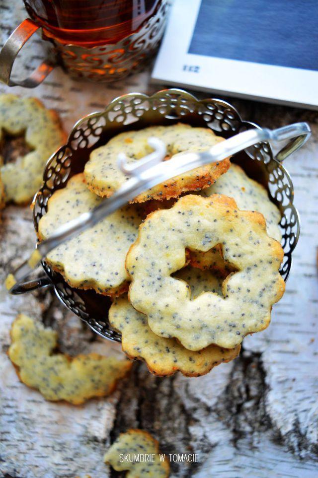 Kruche cytrynowe ciasteczka z makiem