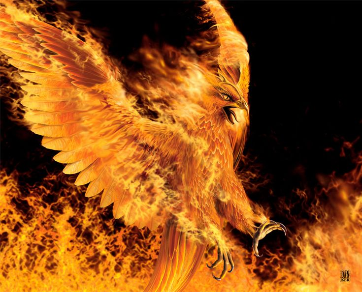 The Phoenix.  This creature bursts into flames when it dies, and it reborn from its ashes... a rare sight to witness.