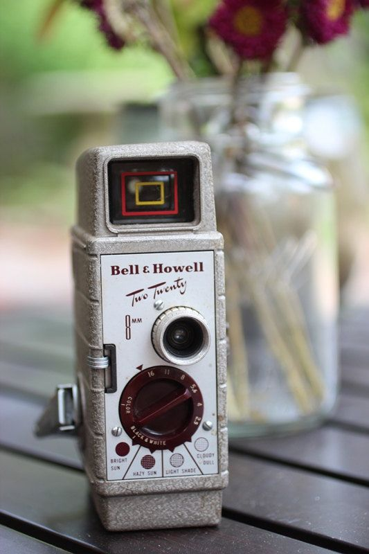 Vintage Bell & Howell Two Twenty 8mm Video Camera -FREE SHIPPING-. $35.00, via Etsy.
