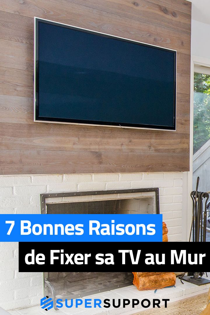 Fixer Tv Au Mur : fixer, Épinglé, Support, Murale