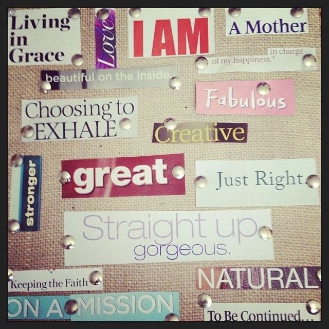 vision board a portion of it should have affirmations