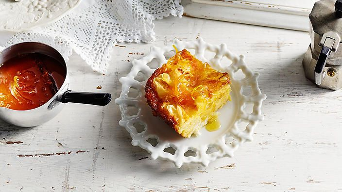 Orange Filo Pie (Portokalopita)If you're looking for the ultimate Greek sweet, look no further than portokalopita. This crispy, syrupy, custardy concoction makes perfect use of Greece's famed yoghurt, which is strained to remove the whey to create a thicker, creamier result. Believed to hail from Crete, this rich pie makes use of the island's orange bounty, resulting in a refreshingly zesty dessert that's delicious served warm in winter or chilled with ice-cream in summer.