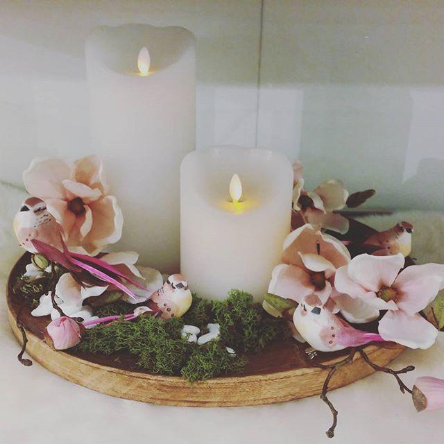 Nach längerer Abwesenheit bin ich nun wieder da, und sehe dass es mittlerweile 2500 treue Follower sind. Ich danke euch und hoffe, ihr hattet einen wunderbaren Start ins neue Jahr! #dasdepot #depot #deko #dekoration #frühling #moos #kerze #LEDKerze #magnolie #magnolia #vögel #vögelchen #schaffell