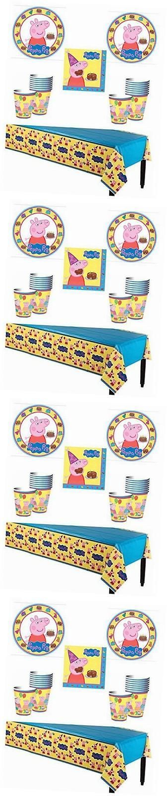 Complete Party Sets and Kits 26394: Peppa Pig Deluxe Party Supply Pack For 16 Guests -> BUY IT NOW ONLY: $31.9 on eBay!