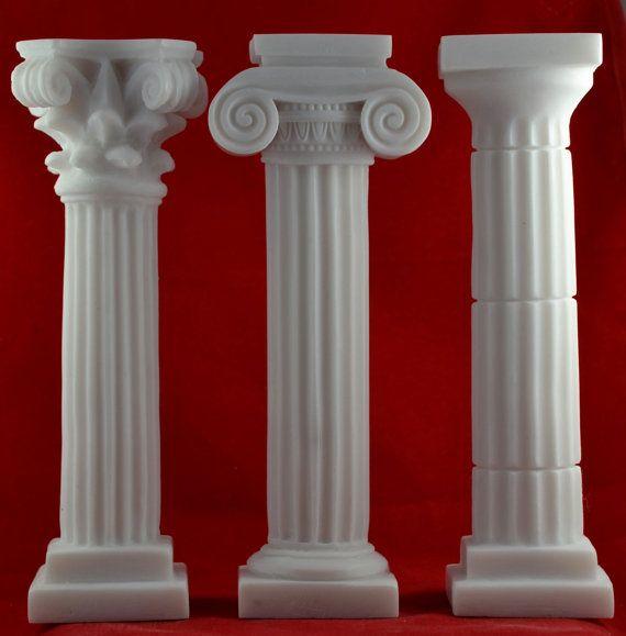 3 Set Column Corinthian Ionic Doric Set Pedestal Temple
