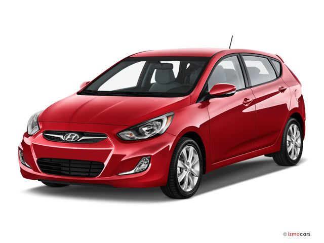 2016 Hyundai Accent: 47.5 cu. ft. The 2016 Hyundai Accent Hatchback models have 21.2 cubic feet of space behind the rear seats and 47.5 cubic feet with the rear seats folded, which is above average for a subcompact hatchback. Both sedan and hatchback models come standard with 60/40 split-folding rear seats. Test drivers are impressed with the number of small-item storage spaces in the Accent's cabin.