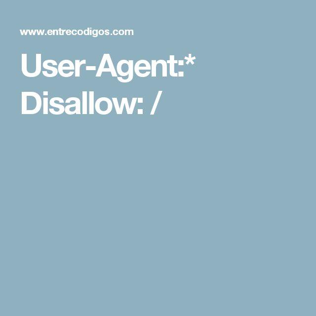 User-Agent:*  Disallow: /