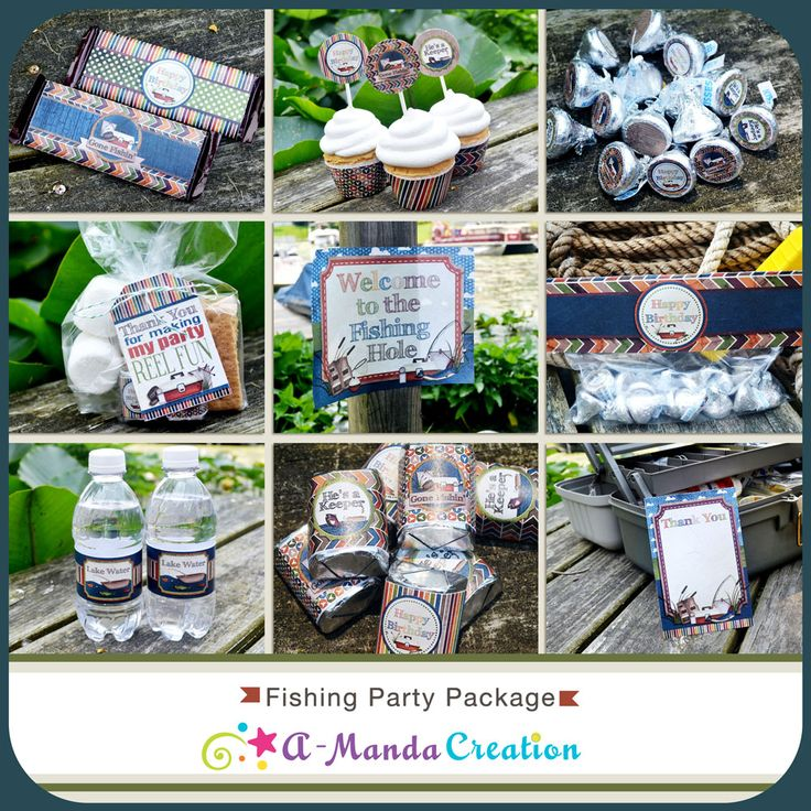 Fishing Party Printable Bundle from #AmandaCreation help make your Fishing themed party extra special with these cool, rustic, outdoorsy printables. This bundle includes 12 coordinating printables so your whole party can match!