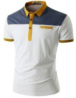 Doublju Men's Short Sleeve Pocket Polo Shirt (CMTTS016)