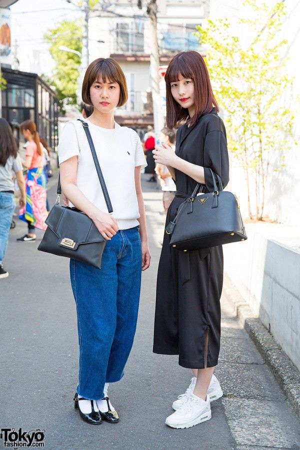 Harajuku Girls in GVGV Jumpsuit, Ralph Lauren Polo, Prada & Resale Fashion (Tokyo Fashion, 2015)