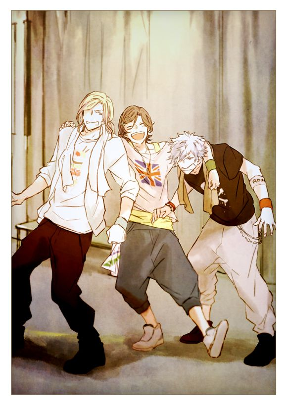 Tags: Anime, Frown, ^ ^, Arm Around Shoulder, Baggy Pants, Uta no☆prince-sama♪, Country Flag