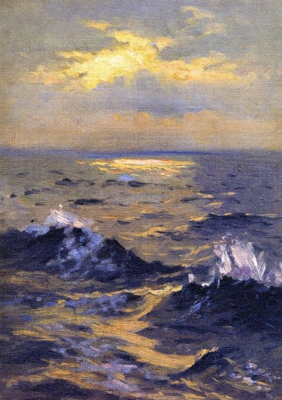 "atavus: "" John Singer Sargent - Seascape, 1876-77 """