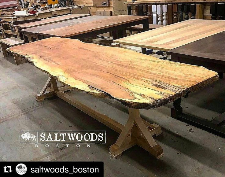#Repost @saltwoods_boston with @repostapp  ・・・  ..a natural beauty. This rustic live-edge was just made up to be in a new Paramount pictures film that will be shot in the spring in western MA. Thanks again to our friends @berkshire_products #madeinmassachusetts #eastendwatertown #liveedge #handcrafted #setdesign #wood #woodworking #naturaledge #rusticfurniture #rusticdecor #slabs
