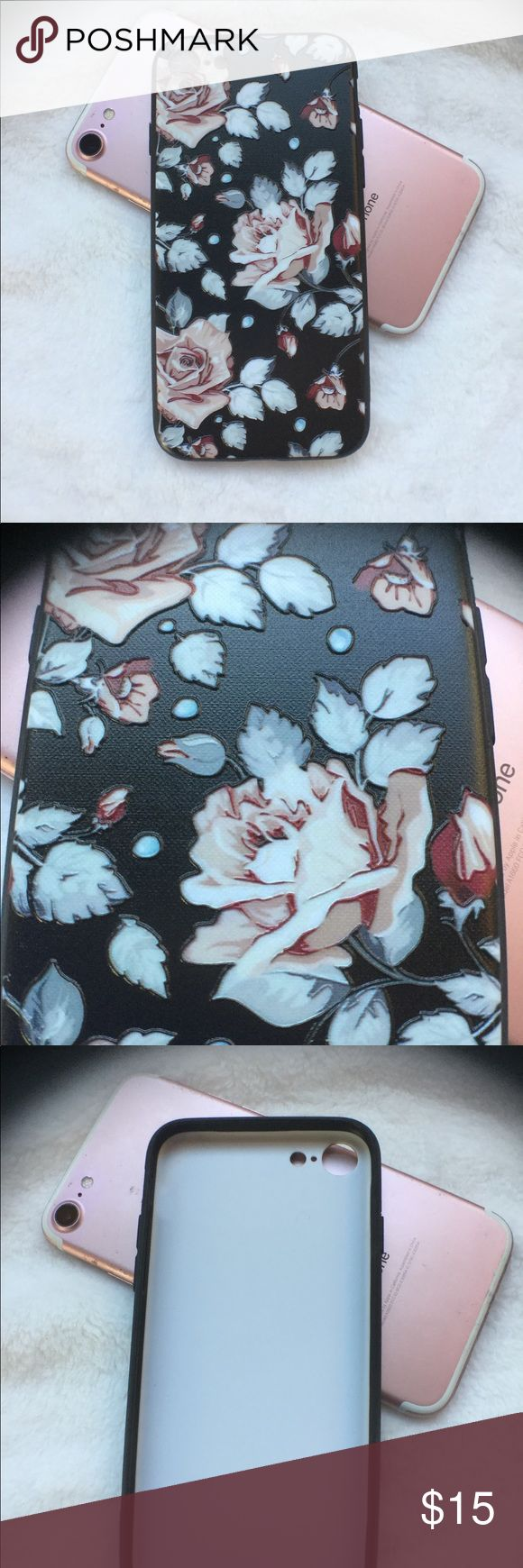 Artistic 3D Rose iPhone 7/8 Case NEW! Brand New!  Tap into your inner artist with this awesome 3D artsy Rose Case. Accessories Phone Cases