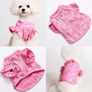 New sweet pink pet clothes puppy dog clothes teddy clothes chihuahua lovely Leisure clothing. $16.88, via Etsy.
