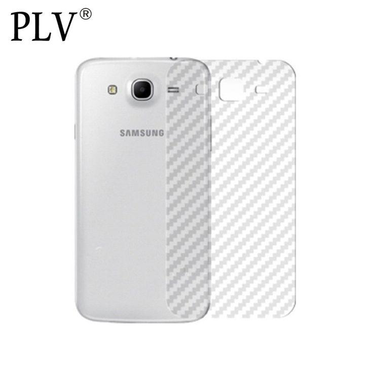 Durable 3D Anti-Écran d'empreintes digitales Transparent Fiber De Carbone Retour Film Protecteur De Protection Garde Pour Samsung Galaxy S7 S6 Edge