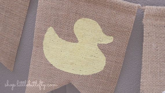 Goma pato arpillera Banner Banner de bebé pato por LittleBitLefty