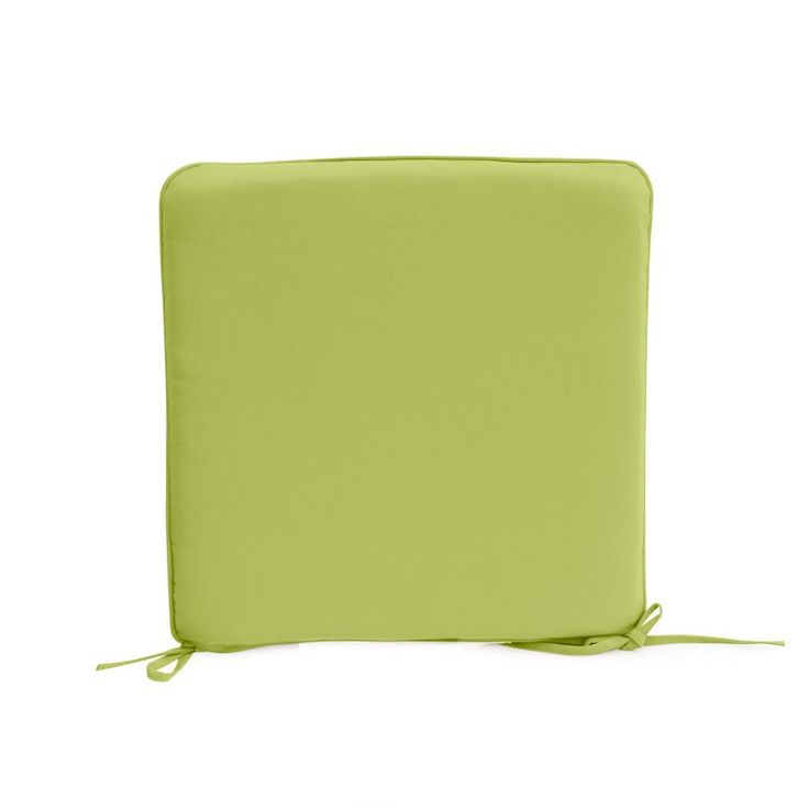 Coral Coast Lakeside 17 x 17 in. Outdoor Furniture Seat Pad Apple Green - TRENDM020-1-AFS001-APPLE