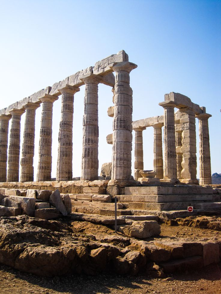 Poseidions Temple, The southernmost tip of Athens, Greece #athens #greece #travel #nature