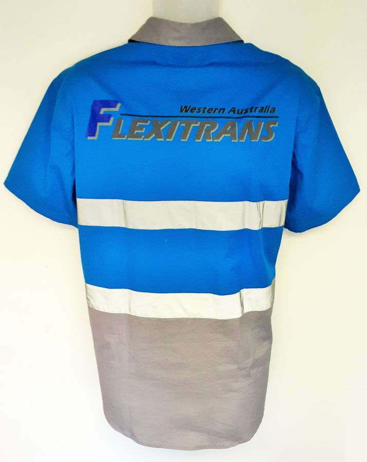 Cotton Drill Work Shirt For Flexitrans Custom Made Workwear