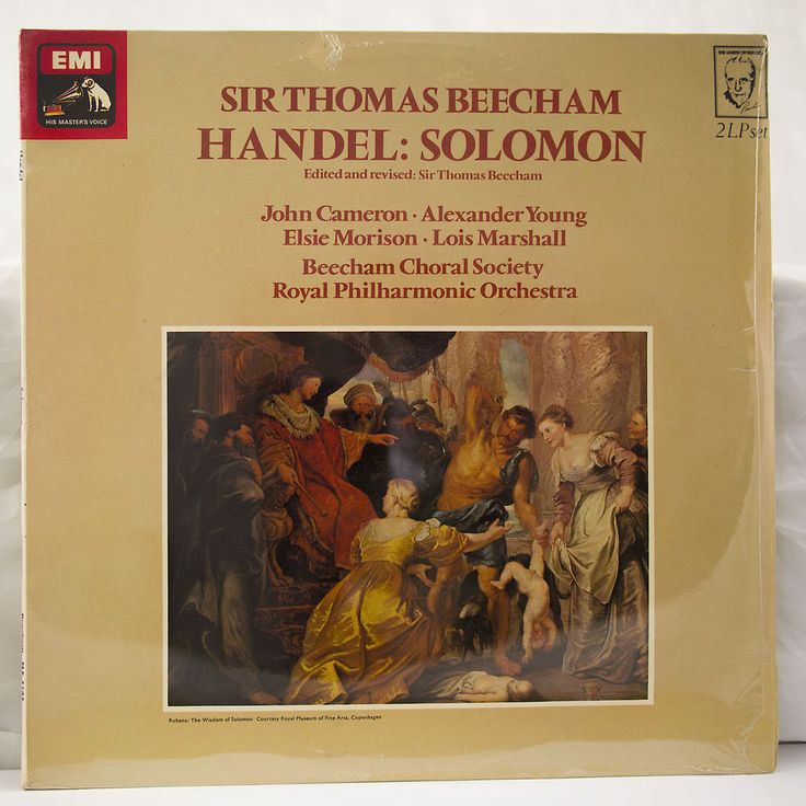 STILL SEALED 2-LP THOMAS BEECHAM HANDEL SOLOMON JOHN CAMERON UK EMI HMV SLS 5163 #EMIHisMastersVoice #Oratorio